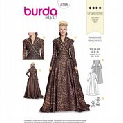 6398 Burda Pattern: Misses' Renaissance Costume